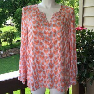 Tommy Hilfiger Orange/Gray Lightweight Tunic, XL